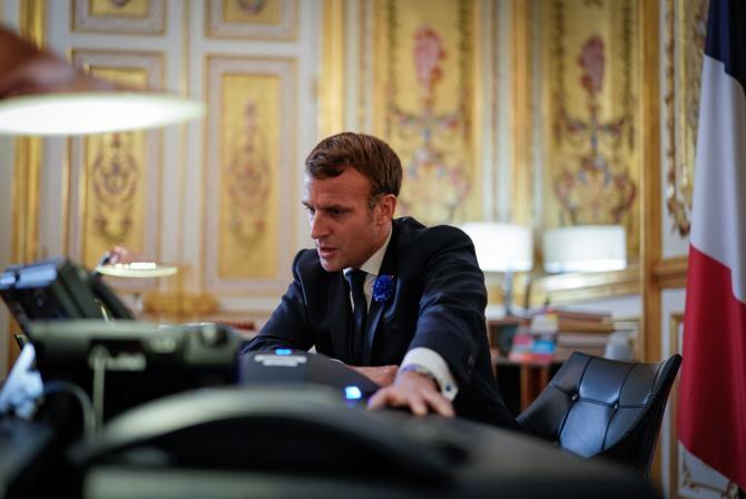 Macron anunță lansarea Academiei mondiale a sănătății și își dorește reformarea OMS  /  Sursă foto: Facebook Emmanuel Macron