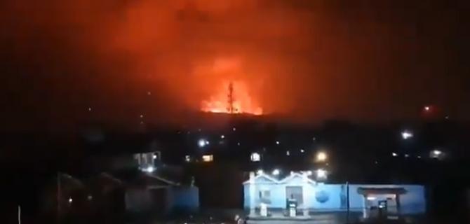 Erupție neașteptată a vulcanului Nyiragongo din Republica Democrată Congo / Sursă foto: Captură Twitter