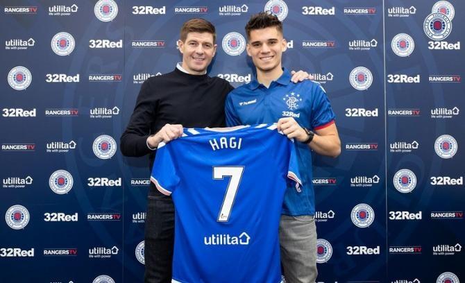 Ianis Hagi, desemnat cel mai bun tânăr jucător al anului la Glasgow Rangers / Facebook Glasgow Rangers