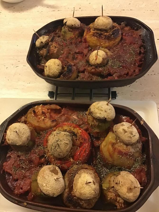 Ingrediente ardei umpluți cu orez și legume a la Cezar Osiceanu