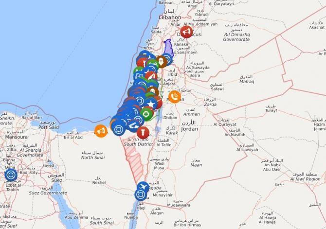 Sursă: captură israelpalestine.livemap