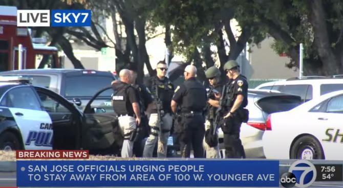 Mai multe persoane împuşcate mortal într-un atac armat la San Jose, California / Captură Video  ABC7 News Bay Area