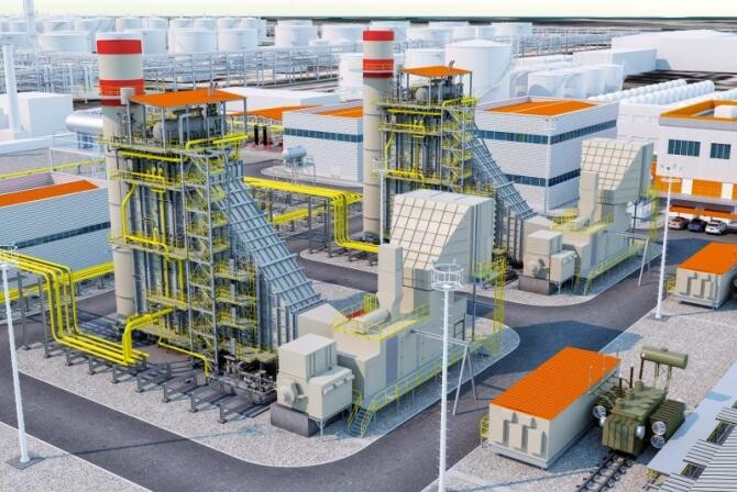 Noua centrală de la Petromidia. Foto: KMG International/Rompetrol