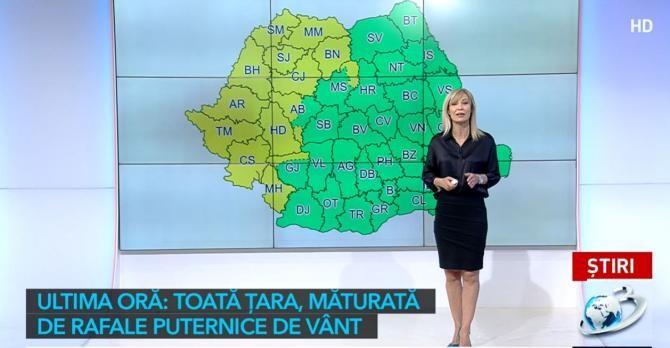 Se strică vremea! COD GALBEN de precipitații în vestul țării și vânt puternic în toată țara / Captură Antena 3