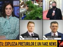 irgil Guran (PNL) și  Andrușceac (AUR), ceartă în direct la TV / Foto: Captură video Realitatea Plus