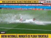 Arena Națională, inundată înaintea meciurilor de la EURO 2020. Austria și-a anulat antrenamentul   /  Sursă foto: Captură RTV