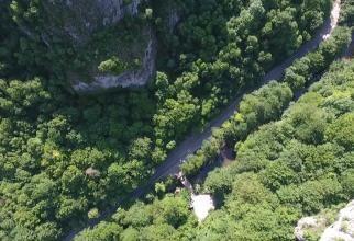Cascada Bigăr, imagini noi din dronă după surparea unui perete