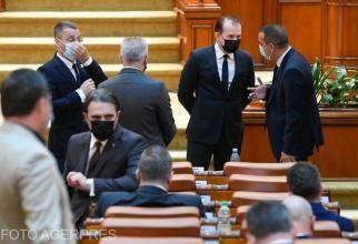 Moțiune cenzură PSD. Florin Cîțu, la votul Parlamentului