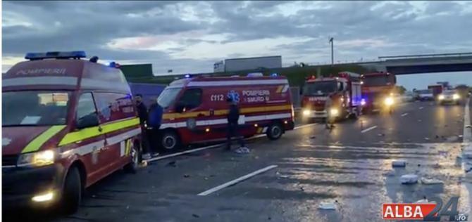 foto alba24.ro/accident autostradă