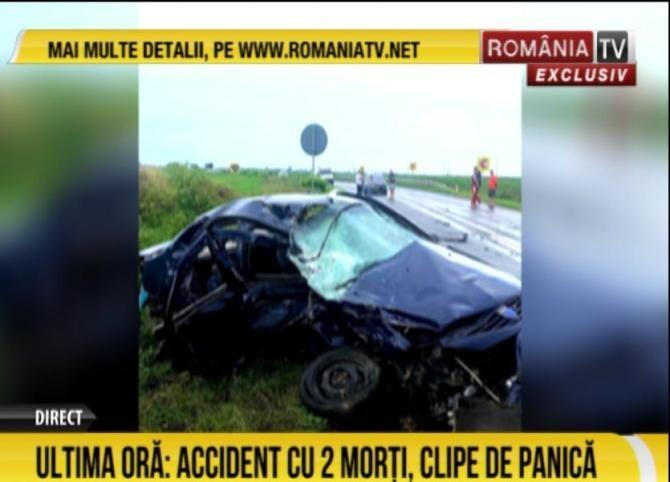 ACCIDENT cu doi morți în Ialomița / Foto: Captură video România Tv