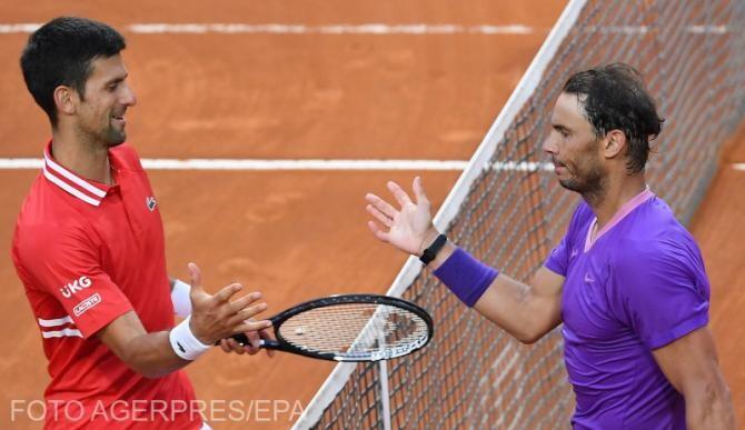 Novak Djokovic și Rafael Nadal la cea de-a  58 confruntare