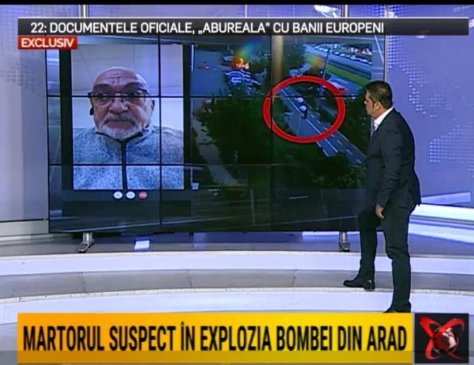 Mihai Untaru, despre explozia de la Arad. Foto: Captură video Realitatea Plus