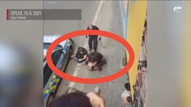 Cazul lui George Floyd, repetat la infigo în Cehia / Foto: Captură video Realitatea Plus