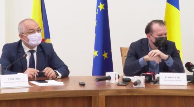 Emil Boc și Florin Cîțu / Captură video
