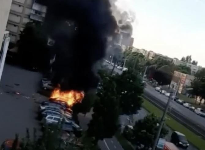 captură video/ mașina lui Ioan Crișan, aruncată în aer