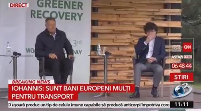 Iohannis îl avertizează pe Nicușor Dan: Suntre prea puține piste pentru bicicliști  /  Sursă foto: Captură Antena 3