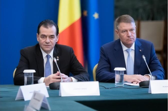 Ludovic Orban și Klaus Iohannis / Foto gov.ro