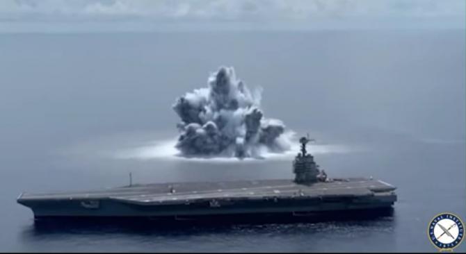 Marina SUA a provocat un cutremur cu magnitudinea de 3,9, după detonarea a 18 tone de explozivi / Foto: Captură video Youtube