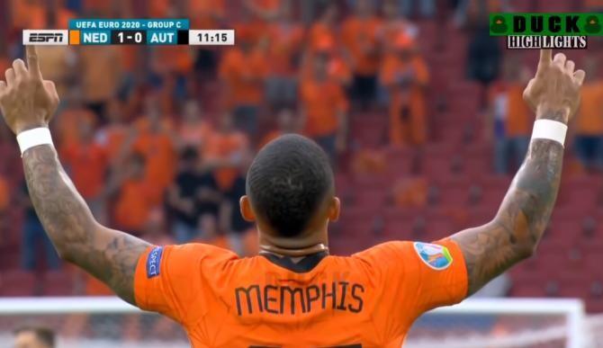 'Portocala mecanică', a treia echipă calificată în optimile EURO 2020. Olanda a făcut senzație cu Austria / Captură Video YouTube EURO 2020 DUCK8 TV