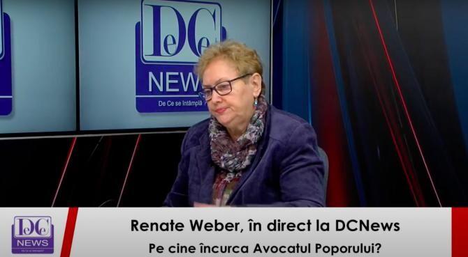 Renate Weber, la DCNewsTV
