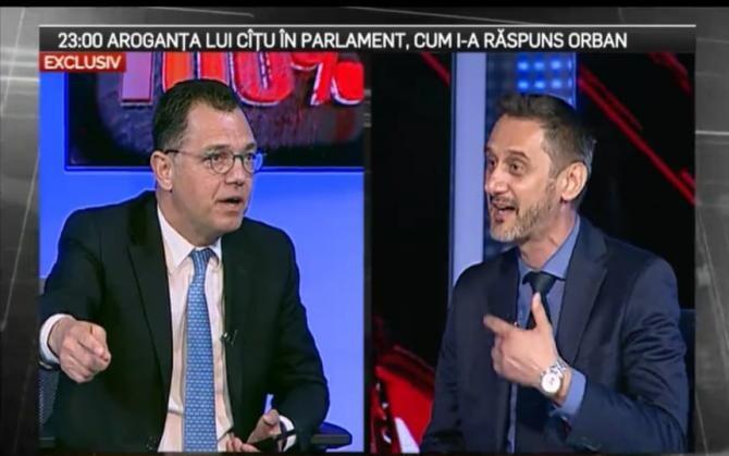 Mario de Mezzo (PNL) și Radu Oprea (PSD), scandal în direct la TV / Foto: captură video Realitatea Plus