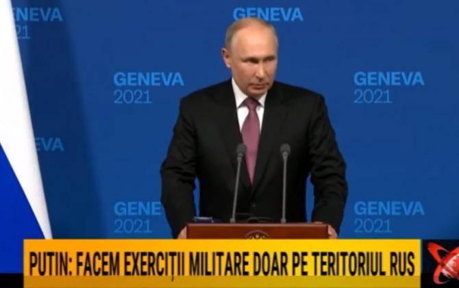 Vladimir Putin, promisiune pentru Ucraina, după întâlnirea cu Joe Biden / Foto: Captură video Realitatea Plus