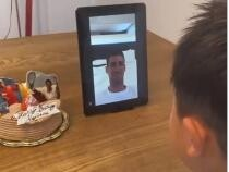 Djokovic, clip viral: Nu puteam să îl dezamăgesc pe micul meu prieten / Captură Video Twitter Novak Djokovic