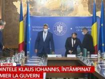 Klaus Iohannis la ședința de Guvern