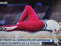 Protest inedit la Jocurile Olimpice. Cum au apărut îmbrăcate sportivele germane la Tokyo / Captură foto Antena 3 via CNN