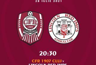 CFR Cluj - Lincold Red Imps, preliminarii Liga Campionilor. CFR conduce la pauză