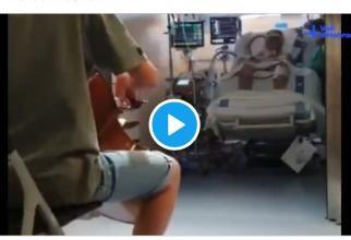 VIDEO care dă fiori: Gestul unui băiat de 13 ani în timp ce tatăl său era la terapie intensivă din cauza Covid-19
