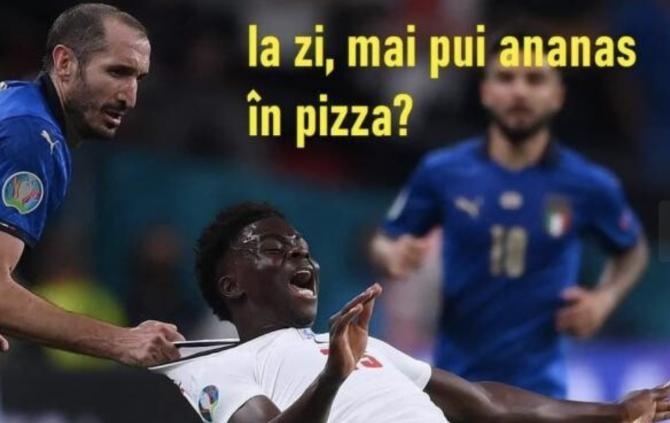 Nu mai puneți ananas pe pizza, gluma virală la finala EURO 2020