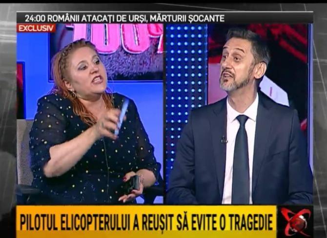 Șoșoacă s-a certat în direct la TV cu Marius De Mezzo și Marius Tudor / Captur[ video RealitateaPlus