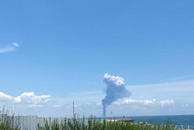 Explozie Petromidia. Sursa: Garda de Mediu Constanța