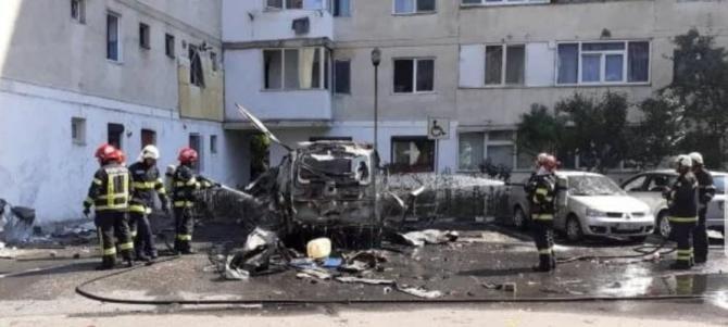 Explozie la Râmnicu Vâlcea. Bilanț / Foto: ISU Vâlcea