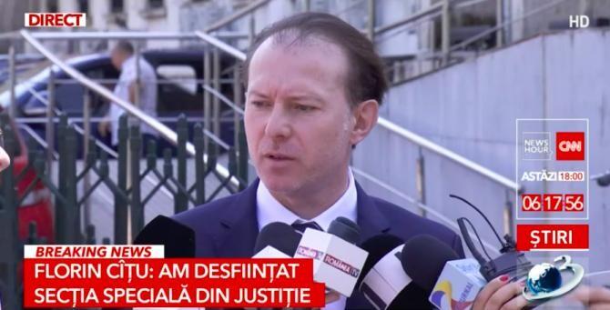 Florin Cîțu / Foto Captură Antena3