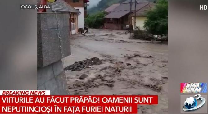 Inundații în România / Captură Antena 3