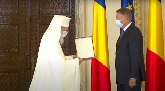 Patriarhul Daniel și președintele Iohannis / Captură video Administrația prezidențială