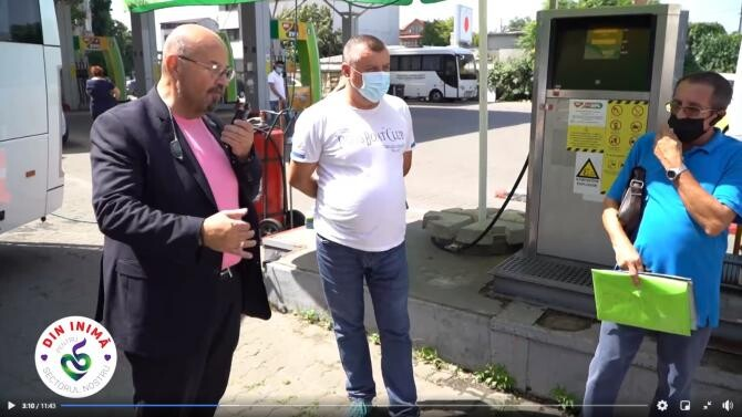 Primarul Piedone, inspecție la benzinăria MOL din Calea 13 Septembrie