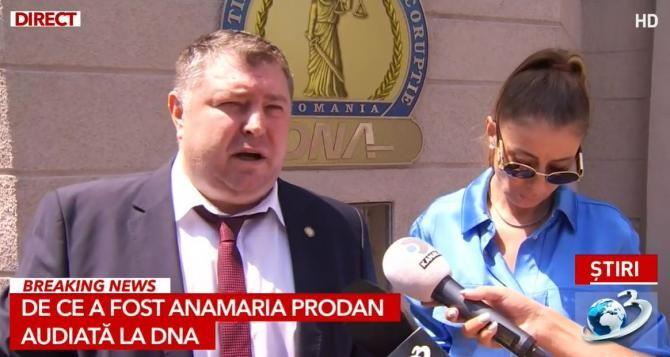 Anamaria Prodan, la DNA. Foto: Captură Antena3