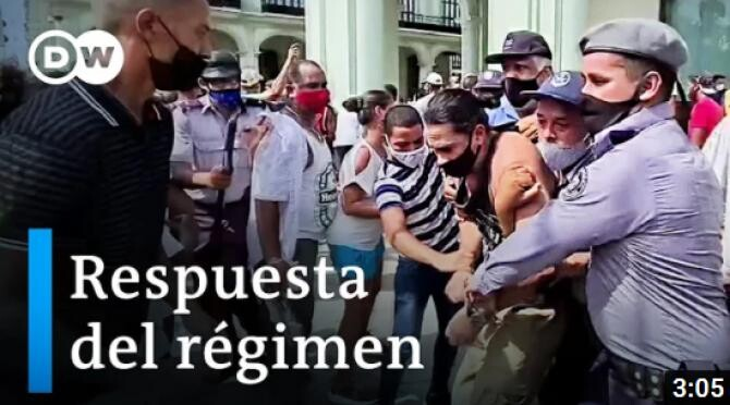 Proteste violente în Cuba. Guvernul a anunţat primele măsuri de relaxare a unor restricţii / Captură Video DW YouTube