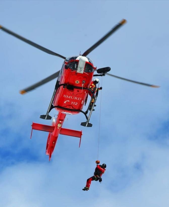 Accident cu 5 victime pe DN5, în apropiere de Capitală / Foto: Facebook Salvamont