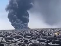 A luat foc cel mai mare depozit de anvelope uzate din lume  /  Sursă foto: Captură YouTube
