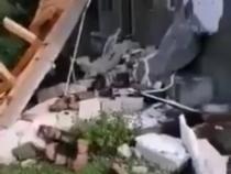 Case din Botoșani, DISTRUSE de rafalele de vânt de peste 120 km/h / Foto: Captură video Facebook