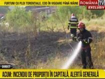 Incendiu în București / Captură RTV