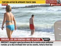 Valuri uriașe la mare. Scăldatul e interzis, după ce salvamarii au arborat steagul roșu  /  Sursă foto: Captură RTV