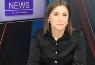 Ioana Constantin, la DC News TV / Foto: Crișan Andreescu
