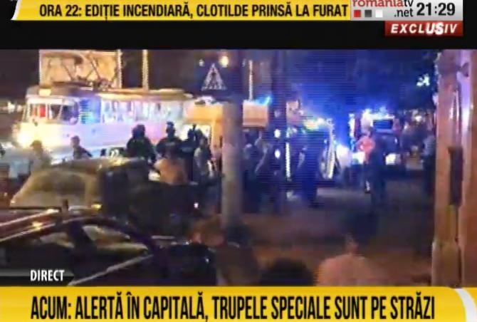 Alertă în Capitală. Trupele speciale au fost mobilizate la fața locului  /  Sursă foto: Captură rtv