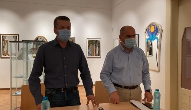 Ilie Bolojan şi Florin Birta în cadrul conferinței de presă  Foto: Facebook Ilie Bolojan