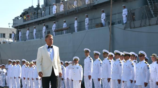 Președintele Klaus Iohannis, la Ziua Marinei 2021/ presidency foto